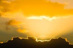 Nube dorata del rivestimento Fotografia Stock Libera da Diritti