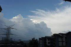 Nube dramática en el cielo Imagen de archivo