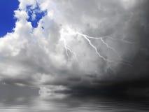 Nube e lampo Fotografia Stock Libera da Diritti