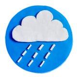 Nube e pioggia Immagini Stock Libere da Diritti