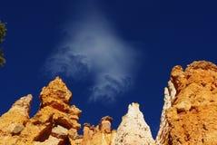 Nube en el barranco de Bryce, Utah Fotografía de archivo libre de regalías