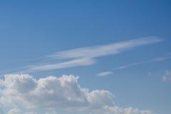 Nube en el cielo azul Foto de archivo libre de regalías