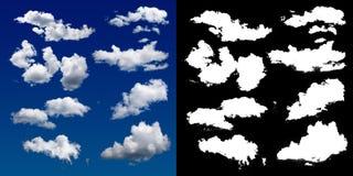Nube en el cielo Una máscara de semitono del recortes para suavemente tallar la nube ilustración del vector