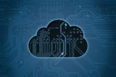 Nube en fondo del circuito imagen de archivo libre de regalías