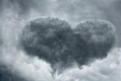 Nube en forma de corazón Foto de archivo libre de regalías