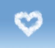 Nube en forma de corazón en el cielo Foto de archivo