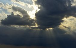 Nube en la ciudad natal Foto de archivo