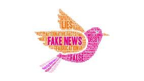 Nube falsa de la palabra de las noticias almacen de video