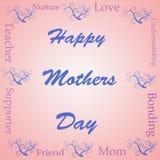 Nube feliz de la palabra del día de madres ilustración del vector