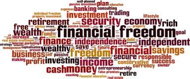 Nube financiera de la palabra de la libertad libre illustration
