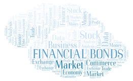 Nube financiera de la palabra de los enlaces ilustración del vector