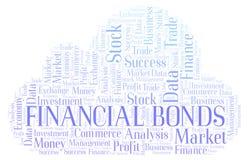 Nube financiera de la palabra de los enlaces stock de ilustración