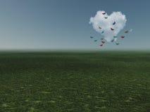 Nube a forma di del cuore Immagine Stock Libera da Diritti