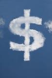 Nube a forma di del dollaro Fotografia Stock Libera da Diritti