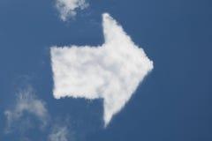 Nube a forma di della freccia Fotografie Stock Libere da Diritti