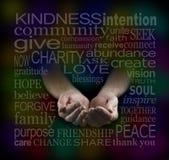Nube Fundraising de la palabra de la caridad Fotos de archivo libres de regalías