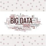 Nube grande de la palabra de datos Fotografía de archivo libre de regalías