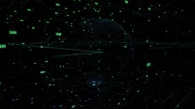 Nube grande de los datos alrededor de Internet computacional digital de la conexión de red de la representación del extracto 3D d libre illustration