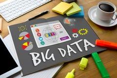 Nube grande Infor de la palabra de Technologie del establecimiento de una red del sistema del almacenamiento de datos Imagenes de archivo