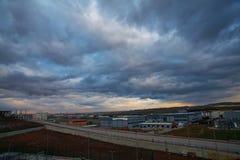 Nube hermosa en una carga Imagen de archivo libre de regalías
