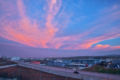 Nube hermosa en una fábrica Imágenes de archivo libres de regalías