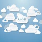 Nube infographic Imagen de archivo libre de regalías