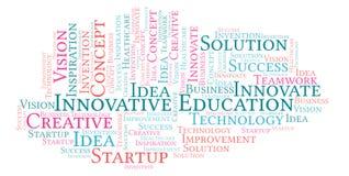 Nube innovadora de la palabra de la educación, hecha con el texto solamente ilustración del vector