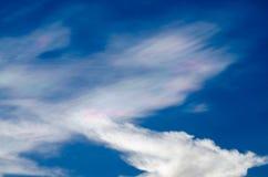 Nube iridiscente hermosa Irisation o nube del arco iris Foto de archivo libre de regalías