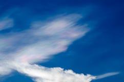 Nube iridiscente hermosa Irisation o nube del arco iris Fotografía de archivo libre de regalías
