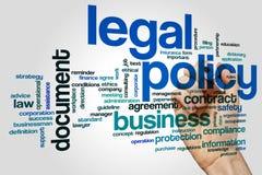 Nube legal de la palabra de la política foto de archivo libre de regalías