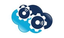 Nube Logo Design Template del engranaje ilustración del vector