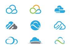 Nube Logo Template Foto de archivo