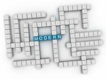 nube moderna de la palabra del concepto 3d Imagen de archivo libre de regalías