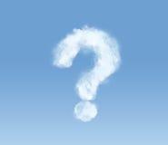 Nube mullida bajo la forma de signo de interrogación Fotografía de archivo
