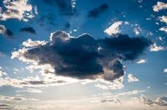 Nube nel cielo blu Fotografia Stock