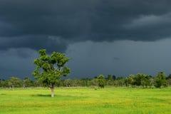 Nube oscura de la estación de lluvias Imágenes de archivo libres de regalías