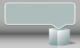 Nube para el estallido del texto fuera de la caja en un color blanco Imagen de archivo libre de regalías