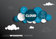 Nube - plantilla de Infographic del vector libre illustration