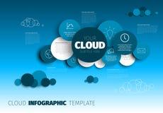 Nube - plantilla de Infographic del vector stock de ilustración