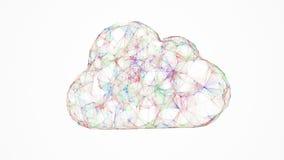Nube que computa, concepto de la red stock de ilustración