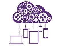 Nube que computa concepto plano Imagen de archivo