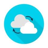Nube que computa el icono plano del círculo libre illustration