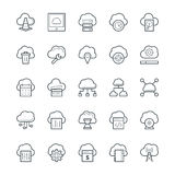 Nube que computa los iconos frescos 2 del vector Fotos de archivo