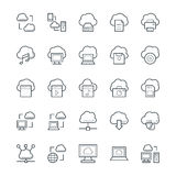 Nube que computa los iconos frescos 1 del vector Fotografía de archivo libre de regalías