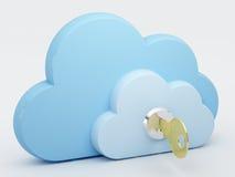 Nube que computa, seguridad Imagen de archivo libre de regalías