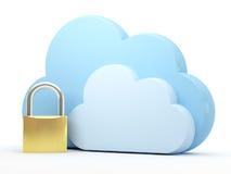 Nube que computa, seguridad Imagenes de archivo