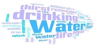 Nube relacionada de la palabra de las palabras del agua libre illustration