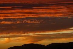 Nube rossa Fotografie Stock Libere da Diritti