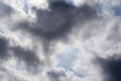 Nube scura Immagine Stock