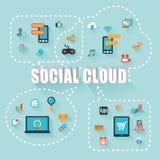 Nube social Foto de archivo libre de regalías